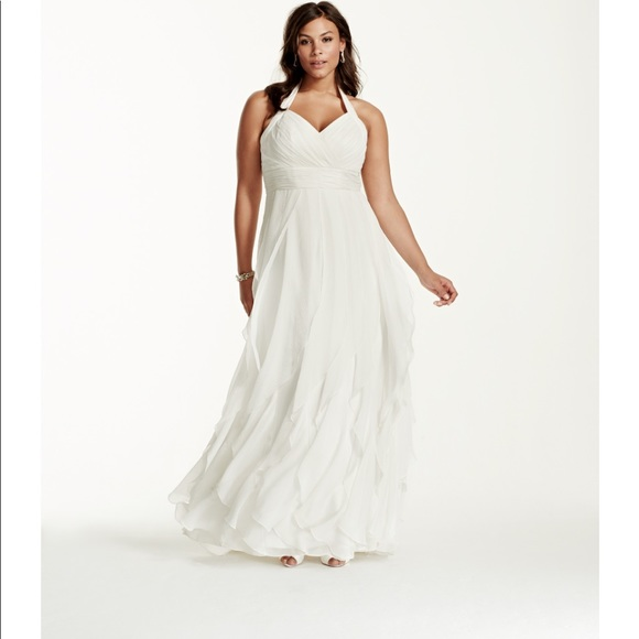 Galina Dresses Off White Chiffon Caribbean Style Wedding Dress